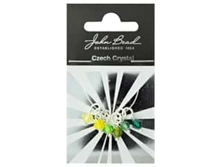 beading & jewelry making supplies: John Bead Czech Bicone Charms 6mm Citrus Breeze