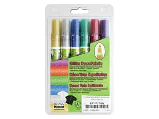 Uchida DecoFabric Marker Set Fine Tip Glitter 6 pc