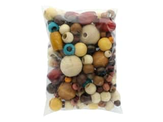 beading & jewelry making supplies: John Bead Wood Bead Euro Mix XLG Multi