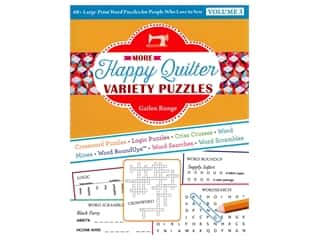 printed eyelashes wiggle eyes: C&T Publishing More Happy Quilter Variety Puzzles Volume 3 Book