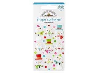 Doodlebug Collection Christmas Town Sprinkles Shape Snow Much Fun