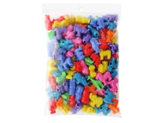 beading & jewelry making supplies: John Bead Acrylic & Plastic Beads Acrylic Beads 27 mm x 25 mm Safari Mix
