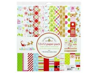 "Doodlebug Night Before Christmas Paper Pack 12""x 12"""