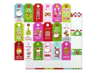 Doodlebug Night Before Christmas Paper 12 in. x 12 in. Gift Tags (25 pieces)