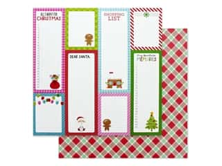 Doodlebug Night Before Christmas Paper 12 in. x 12 in. Santa Stocking (25 pieces)