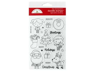 heart wreath: Doodlebug Night Before Christmas Doodle Stamps