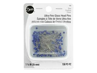 Dritz Ultra Fine Glass Head Pins 150 pc. Size 22
