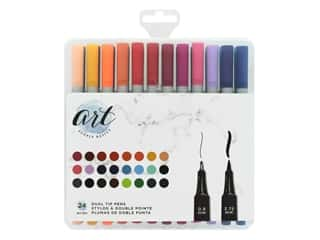 American Crafts Art Supply Basics Dual Tip Pens 24 pc.