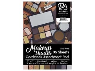 "scrapbooking & paper crafts: Paper Accents Cardstock Pad 5""x 7"" 36pc Makeup Shades Assortment"