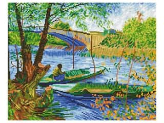 Diamond Dotz Facet Art Kit Intermediate Fishing in Spring Van Gogh