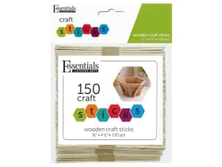 craft & hobbies: Essentials By Leisure Arts Wood Craft Sticks .38 in. x 4.5 in. 150 pc