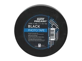glues, adhesives & tapes: Pro Art Tape Photo 1 in. x 60 yd Black