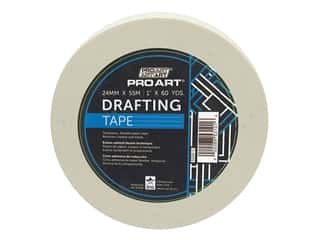 glues, adhesives & tapes: Pro Art Tape Drafting 1 in. x 60 yd