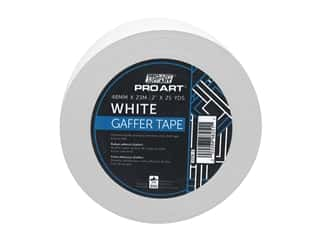 glues, adhesives & tapes: Pro Art Tape Gaffers 2 in. x 25 yd White