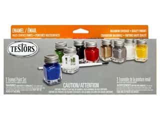 craft & hobbies: Testors Enamel Paint Set All Purpose 9pc