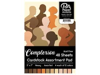 "Paper Accents Cardstock Pad 5""x 7"" Complexion Assortment 48pc"