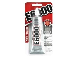 glues, adhesives & tapes: Eclectic E6000 Adhesive 2 oz. White