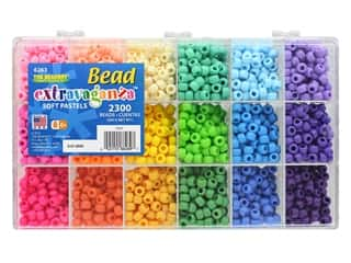 beading & jewelry making supplies: The Beadery Bead Extravaganza Box Soft Pastels