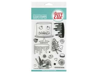 scrapbooking & paper crafts: Avery Elle Clear Stamp A Cake For All Seasons