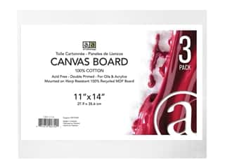 "Art Advantage Canvas Board Recycled MDF 11""x 14"""