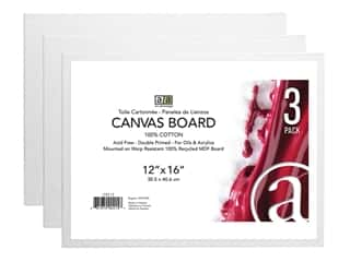 Art Advantage Canvas Board - 12 x 16 in. 3 pc.