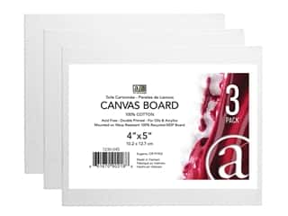 Art Advantage Canvas Board - 4 x 5 in. 3 pc.