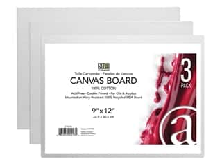 Art Advantage Canvas Board - 9 x 12 in. 3 pc.