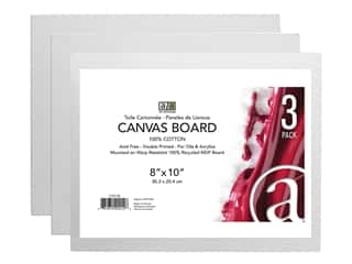Art Advantage Canvas Board - 8 x 10 in. 3 pc.