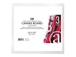 "Art Advantage Canvas Board Recycled MDF 12""x 12"""