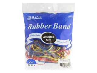 Bazic Rubber Bands Assorted Colors & Sizes 2 oz