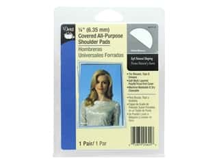 Dritz Covered All Purpose Shoulder Pads 1/4 in. White