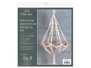 Solid Oak Kit Macrame Beaded Chandelier Plant Hanger