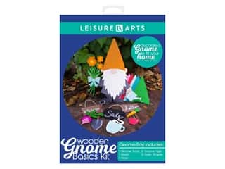 Leisure Arts Wooden Gnome Basics Kit - Boy