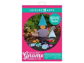 Leisure Arts Wooden Gnome Basics Kit - Girl