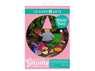 novelties: Leisure Arts Wooden Gnome Holiday Kit - Girl