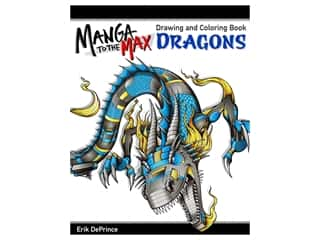 Manga to the Max: Dragons Drawing & Coloring Book