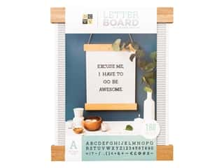 "novelties: DieCuts With A View With A View Collection Letterboard Frame 16""x 20"" With 1"" Letters Black"