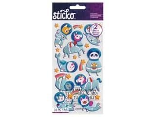 EK Sticko Stickers Flat Space Animals