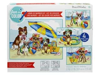 Paint Works Pencil Color By Number Kit Value Pack Summer Paws