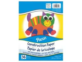 craft & hobbies: Pacon Construction Paper 9 in. x 12 in. 36 pc Assorted