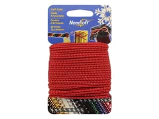craft & hobbies: Needloft Craft Cord 20 yd. #03 Metallic Red