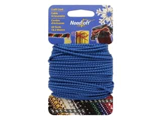 craft & hobbies: Needloft Craft Cord 20 yd. #02 Metallic Blue
