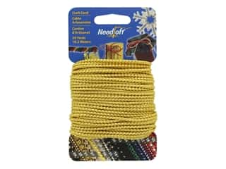 craft & hobbies: Needloft Craft Cord 20 yd. #01 Metallic Gold