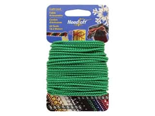 craft & hobbies: Needloft Craft Cord 20 yd. #04 Metallic Green
