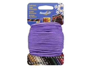 craft & hobbies: Needloft Craft Cord 20 yd. #30 Solid Metallic Purple