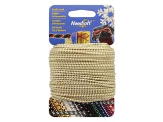 craft & hobbies: Needloft Craft Cord 20 yd. #07 Metallic White & Gold