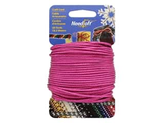craft & hobbies: Needloft Craft Cord 20 yd. #32 Solid Metallic Magenta