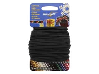 craft & hobbies: Needloft Craft Cord 20 yd. #42 Solid Black