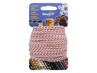 craft & hobbies: Needloft Craft Cord 20 yd. #50 Metallic Pink Iridescent