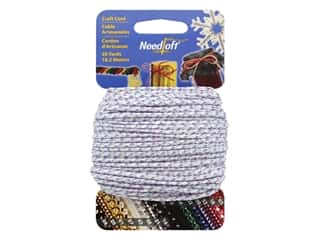 craft & hobbies: Needloft Craft Cord 20 yd. #46 Metallic Purple Iridescent